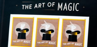 'The Art of Magic' postage stamps were the first US postal stamps ever printed flexo and the first to exploit 3D micro-optical printing. Photo Miraclon