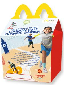 McDonald's happy meal box for the 2012 London Olympics