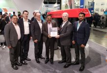 Vishakha and Brampton Engineering teams commemorate the signing for the first AquaFrost line in India