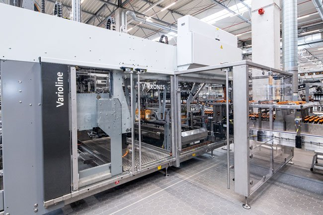 Krones Varioline uses ten different robots