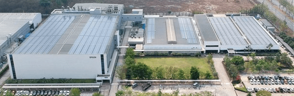 Epson Thailand with rooftop solar