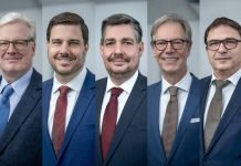 Well equipped for the future: the Koenig & Bauer management team with Dr. Andreas Pleßke as the new board spokesman Photo K&B