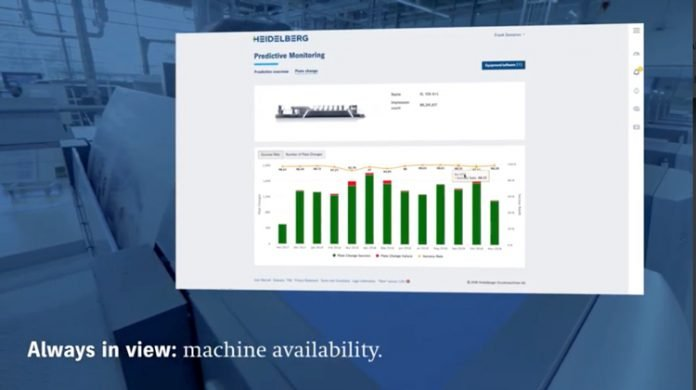 Heidelberg is providing cloud based consulting that monitors each press and uses AI tools that analyze it and the big data from 13000 connected presses