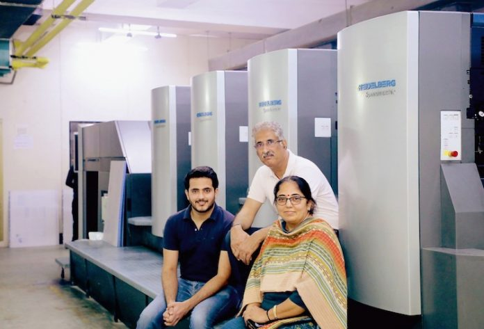 Within two years, Rahul Print o Pack has invested in two Speedmaster CS 92 presses. L to R – Rahul Kumar Soni, Ajay Kumar Soni and Seema Soni