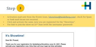 A guide for registration to Heidelberg's Showtime