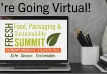 The Food, Packaging, & Sustainability Summit at Clemson University. via Internet