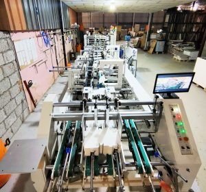 The folder gluer installed at Sterling Print House