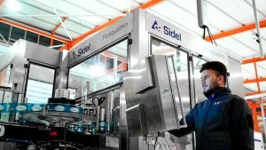 Sidel's packaging expert producing lightweighted PET bottle