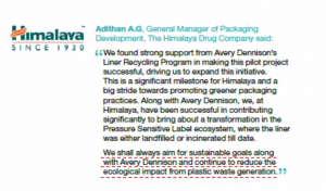 Adithan A G, general manager of Packaging Development, The Himalaya Drug Company on the program. Photo Avery Dennison