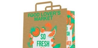 Mondi sustainable paper shopping bags for the customers of Food Lover